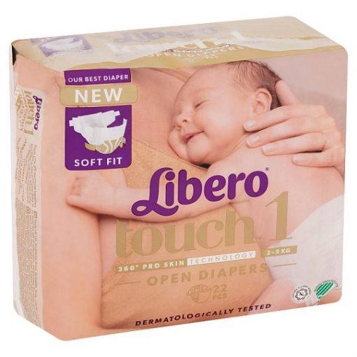 Libero Touch 1 ujszülött pelenka (2-5kg) - 22db