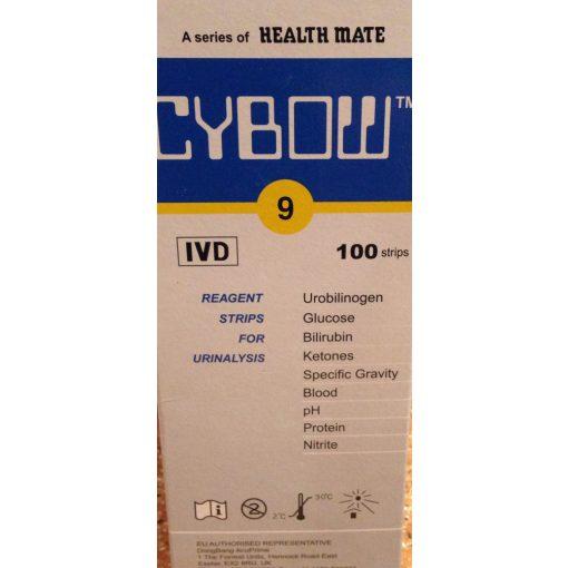 Cybow 9 vizelet tesztcsík (100db)