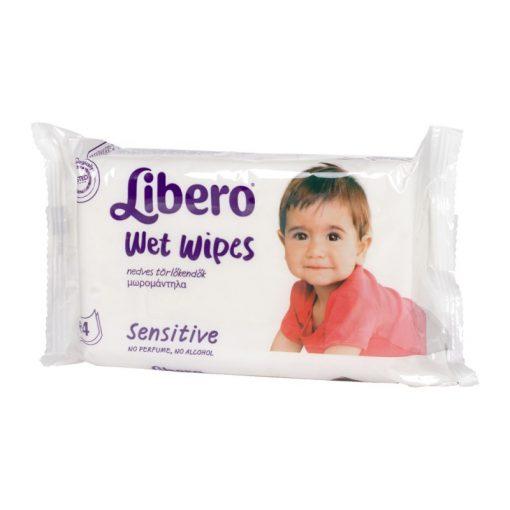 Libero sensitive törlőkendő - 4x64db